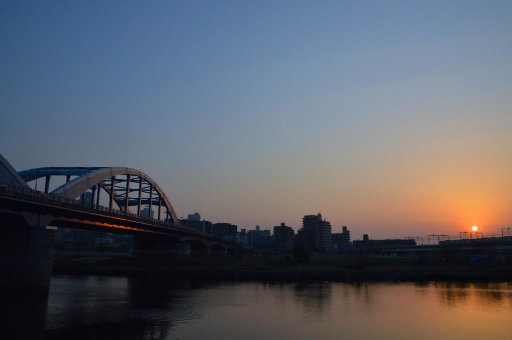 多摩川夕焼け3