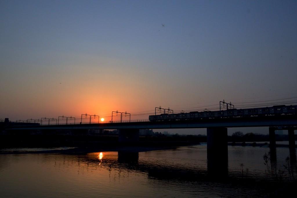 多摩川夕焼け4