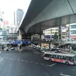 渋谷駅西口歩道橋 | 車道、歩道、高速の3段立体都市の情景